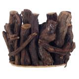 Ghiveci decorativ, 21 x 15 cm, model gardulet lemn