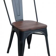 Scaun metalic ANTIQUE 51x44x85,5cm BLACK MATTE MN0195409 Raki