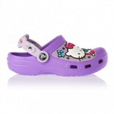 Saboți Copii casual Crocs Hello Kitty Candy Ribbons Clog, 33.5, 34.5, Mov