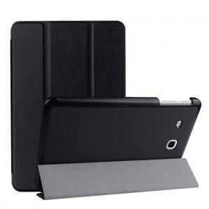 Husa flip cover pliabila din piele PU pentru Samsung Galaxy Tab E T560, negru