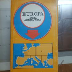 Europa, Harta Autorutieră, 1973
