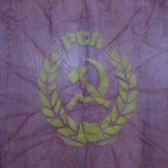 Steag - Drapel din perioada comunista - Drapel Original Partidul Comunist Roman
