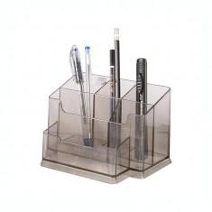 Suport pentru accesorii de birou Forpus 30517 fumuriu