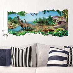 Sticker pentru perete autocolant 3D Dinozauri model 2