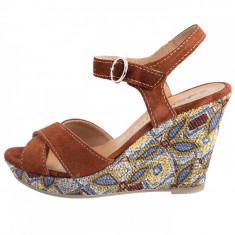 Sandale dama, din piele naturala, marca Tamaris, 28357-55-10, coniac , marime: 41