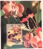 Cumpara ieftin Djibouti 2006 flori, orhidee, Fluturi bloc uzat, Nestampilat