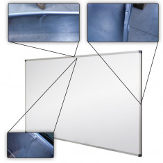 Whiteboard, tabla magnetica alba, 100x200 cm, rama aluminiu, resigilata