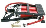 Pompa aer auto Carpoint de picior dubla cu 2 cilindri si manometru , 7 bar 100psi, model Rosu