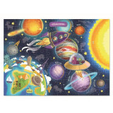 Puzzle Spatiul cosmic Dodo, 100 piese, 5 ani+