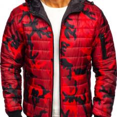 Geacă sport bărbați camuflaj-roșu Bolf MY13M