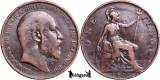 1902, 1 Penny - Edward al VII-lea - Regatul Unit - KM# 794.2, Europa
