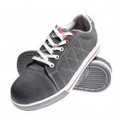 Pantofi piele intoarsa, aplicatii cauciuc, marimea 43