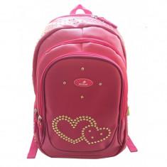 Cumpara ieftin Ghiozdan Pink Hearts, gimnaziu, 1 compartiment, 2 buzunare, Ecada