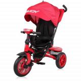 Tricicleta Multifunctionala 4 in1 Speedy, cu Scaun Rotativ si Roti cu Camera, Colectia 2019 Red & Black