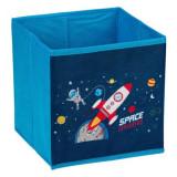 Cutie pliabila Shopiens, pentru depozitare, albastru cu spatiu, 20x20x20 cm