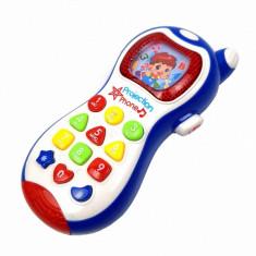 Telefon de jucarie pentru copii, cu melodii si proiectie de lumini