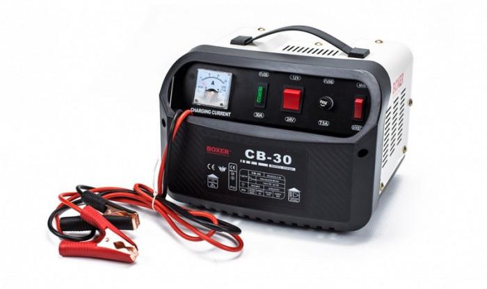Redresor Incarcator Baterii Auto Boxer CB-30, 12/24V, 25A, Functia Boost de Incarcare Rapida