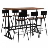 VidaXL Set mobilier de bar, 7 piese, lemn masiv reciclat