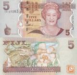 Fiji 5 Dollars 2011 UNC