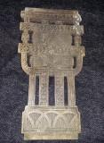 Icoana veche pictata pe lemn si sculptata,Icoana sculptata tip antic,T.GRATUIT