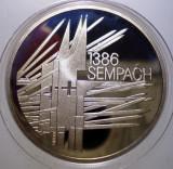 5.111 ELVETIA 1386 SEMPACH 5 FRANCS FRANCI 1986 PROOF  76.000ex.