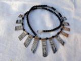 COLIER argint TUAREG etnic TRIBAL vintage VECHI de efect RAR superb SPLENDID