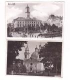 BUCOVINA-CERNAUTI-CATEDRALA-PIATA UNIRII CU PRIMARIA-2 CARTI POSTALE ANII 30