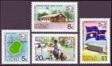 CENTENAR UPU - 1974 - NAURU - serie+ bloc, Sarbatori, Nestampilat