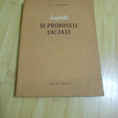 M. G. DEMUROV--LAPTELE SI PRODUSELE LACTATE - 1954