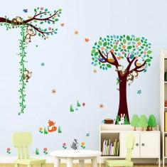 Sticker camere copii Maimute in copac si pe liana
