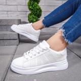 Pantofi dama sport albi Flodisa