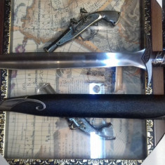 Panoplie sabie medievala cu teaca