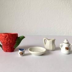 Lot miniaturi ceramica 5 piese: intre 1  si 3,5cm