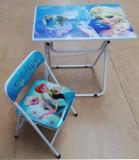 Masuta cu  scaunel pliabile cu desene : Mickey,Sofia,Frozen,Cars,Dora,Printese