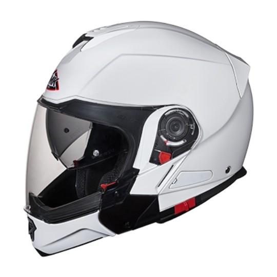 Casca viziera rabatabila SMK HYBRID EVO Alb GL100 culoare alb marimea XL