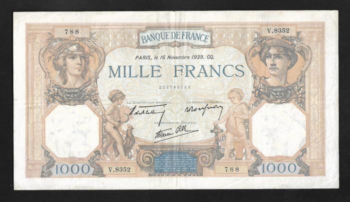 Franta 1000 francs 1939