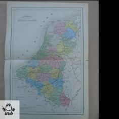Harta color Olanda 1900