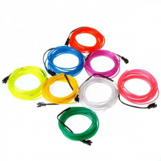 Fir electroluminescent Neon flexibil El wire dublu