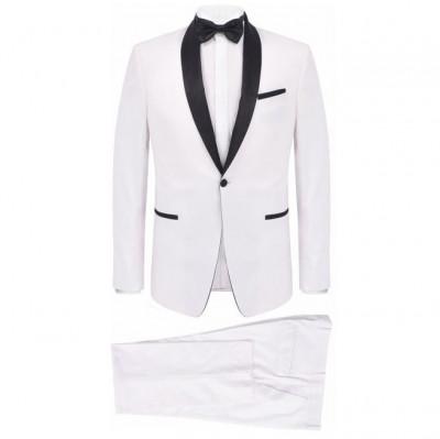 Frac/Costum de seară bărbătesc, 2 piese, mărime 46 alb foto