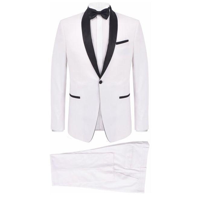 Frac/Costum de seară bărbătesc, 2 piese, mărime 46 alb