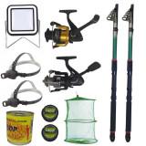 Cumpara ieftin Pachet de pescuit cu 2 lansete eastshark 2.4m, doua mulinete si accesorii