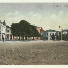 cp Ramnicu Valcea : Piata Lahovari - circulata, anii 1920