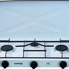 Plita independenta pe gaz Albatros APG31W 3 arzatoare Alba