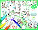Set lucru manual si desen - Animale