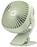 Ventilator de birou Baseus CXFHD-06, incarcare USB, 360 grade, prindere cu clips (Verde)