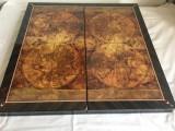 Table (joc de Table) - Lux lemn lacuit, model glob pământesc. SIGILAT!
