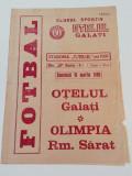 Program meci fotbal OTELUL GALATI - OLIMPIA RAMNICU SARAT (18.03.1990)