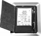 Tavita din inox pentru nota de plata cu coperti din piele si sistem magnetic, APS