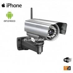 Camera Supraveghere Exterior Wireless cu IP Carcasa Metalica