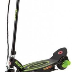 Trotineta electrica copii Razor Power Core E90, Autonomie 80 min, Viteza 16 Km/h (Negru/Verde)
